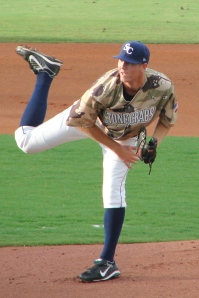 Shane Dyer pitched for the Stone Crabs in 2010. (Jim Donten)