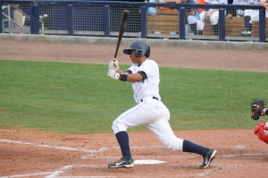 Hector Guevara's two run double in the 12th lifted the Stone Crabs to victory