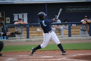 Hector Guevara was 2 for 4 with a 2 RBI's and a run scored.  (Photo: Jim Donten)