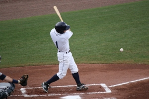 Ryan Brett had the only extra base hit for the Stone Crabs.