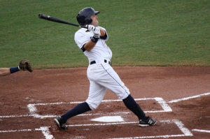 Kes Carter had a two run triple to help ensure the Stone Crabs win on Thursday night.