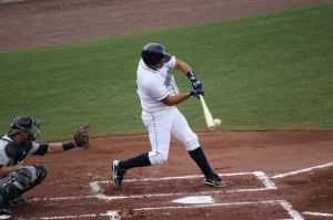 Alejandro Segovia went deep twice in game one of Monday's doubleheader.  (Photo: Jim Donten)
