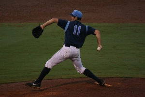 Dylan Floro pitched 8 shut-out innings on Wednesday night.