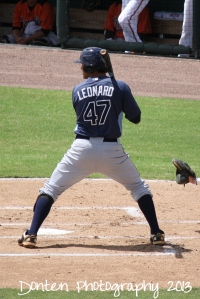 Pat Leonard went deep for the first Stone Crabs homer of the 2014 season.