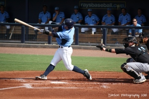 Josh Sale was 3 for 4 in Sunday's game against Jupiter.