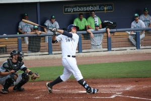 Maxx Tissenbaum was the only Stone Crab with multiple hits.  (Photo: Jim Donten)
