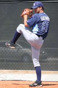 Taylor Guerrieri joins the Stone Crabs for his first start in 2015.  (Photo: Jim Donten)