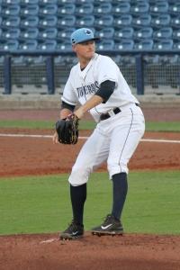Buddy Borden struck out eight hitter against Bradenton.  (Photo: Jim Donten)