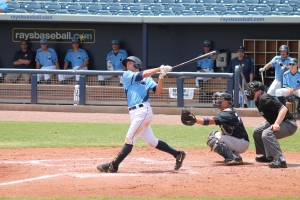 Mike Marjama's two run homer was the lone bright spot in the Stone Crabs offense.  (Photo: Jim Donten)