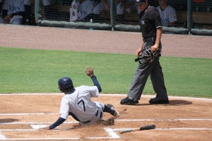 Joseph Astacio scored the only run of the afternoon for the GCL Rays.  (Photo: Jim Donten)