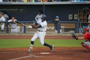 Justin Williams drove home the only run of the night with an RBI double in the second.  (Photo: Jim Donten)